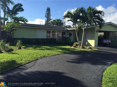 Broward County Single Family Home For Sale: 1510 NE 40th Pl