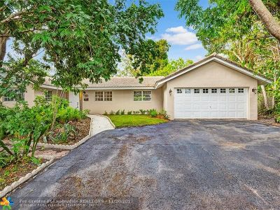 Plantation Single Family Home For Sale: 1141 Renmar Dr