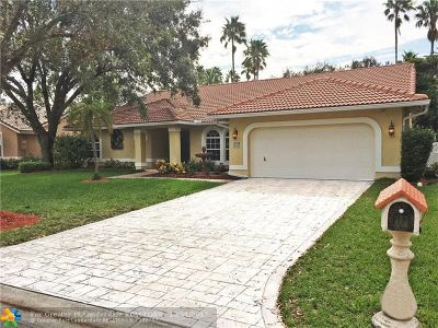 Coral Springs Single Family Home Backup Contract-Call LA: 5006 NW 105th Dr