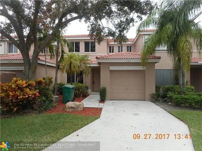 Davie Condo/Townhouse For Sale: 1724 SW 110th Ter #1724