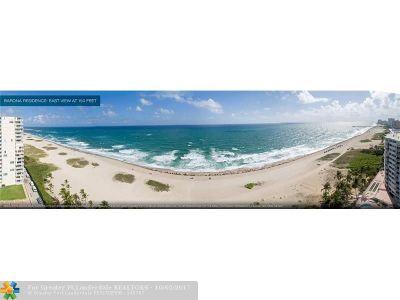 Pompano Beach Condo/Townhouse For Sale: 730 N Ocean Blvd #1102