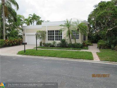 Boca Raton Single Family Home For Sale: 7121 Dubonnet Dr