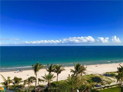 Broward County Condo/Townhouse For Sale: 1700 S Ocean Bl #8D