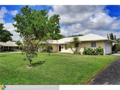 Coral Springs Single Family Home For Sale: 8307 NW 36th St