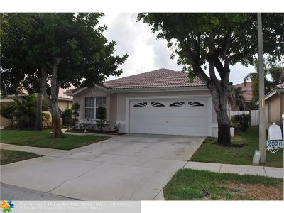 Pembroke Pines Single Family Home For Sale: 2020 NW 182nd Terrace