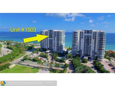 Hollywood Condo/Townhouse For Sale: 6051 N Ocean Dr #1503
