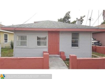 West Palm Beach Single Family Home For Sale: 1022 22nd St