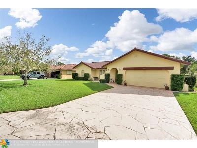 Coral Springs Single Family Home For Sale: 7010 NW 39th Street