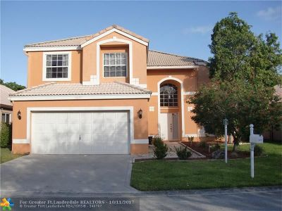 Coral Springs Single Family Home For Sale: 11677 NW 3rd Dr