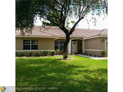 Coconut Creek Single Family Home For Sale: 6144 NW 45th Ter