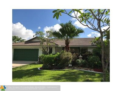 Coral Springs Single Family Home For Sale: 11268 NW 1st Pl