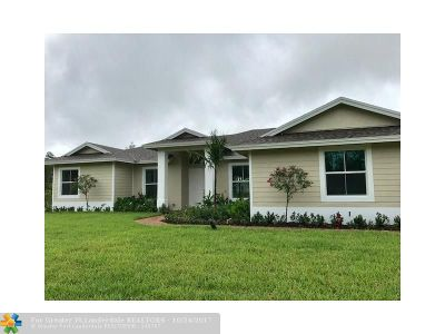 Loxahatchee Single Family Home For Sale: 16648 69th St N