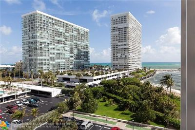 Fort Lauderdale Condo/Townhouse For Sale: 2100 S Ocean Dr #6-B