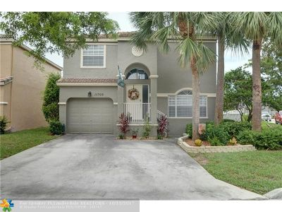 Coral Springs Single Family Home For Sale: 11709 NW 1st Ct