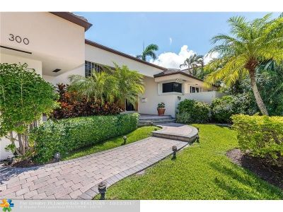 Fort Lauderdale Single Family Home For Sale: 300 San Marco Dr