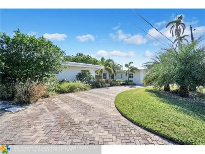 Pompano Beach Single Family Home For Sale: 3210 Dover Rd