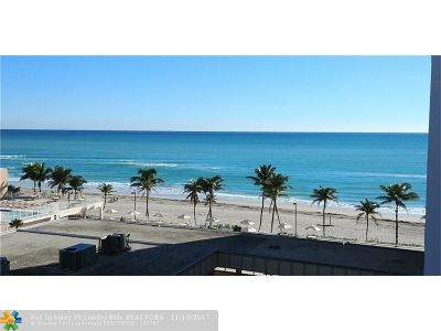 Hollywood Condo/Townhouse For Sale: 2401 S Ocean Dr #701