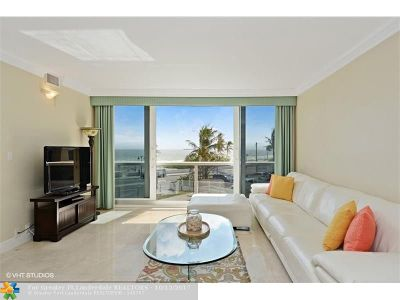 Fort Lauderdale Condo/Townhouse For Sale: 1200 N Fort Lauderdale Beach Blvd #4