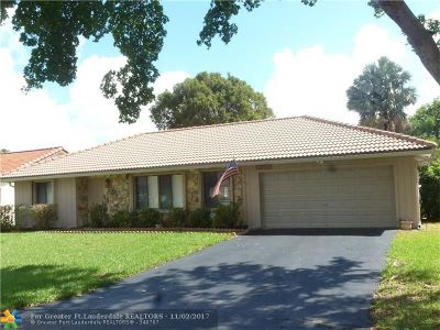 Coral Springs Single Family Home For Sale: 1335 NW 112th Ter