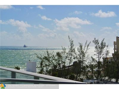 Fort Lauderdale Condo/Townhouse For Sale: 701 N Fort Lauderdale Beac #605