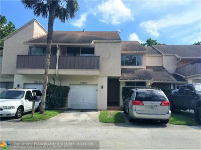 Plantation Condo/Townhouse For Sale: 838 NW 81st Ter #2
