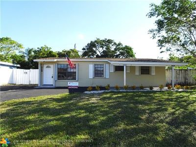 Pompano Beach Single Family Home For Sale: 2160 NE 2nd Ave
