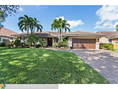 Coral Springs Single Family Home For Sale: 9721 NW 51st St