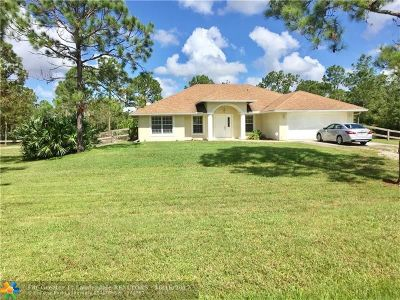 Loxahatchee Single Family Home For Sale: 17117 46th Ct