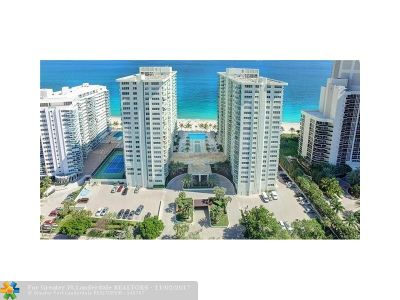Fort Lauderdale Condo/Townhouse For Sale: 3400 Galt Ocean #809 S