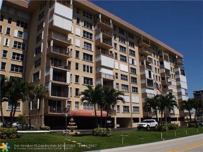 Hillsboro Beach Condo/Townhouse For Sale: 1150 Hillsboro Mile #801