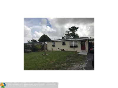 Margate Single Family Home For Sale: 6322 SW 2nd St