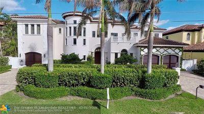 Lighthouse Point Single Family Home For Sale: 2429 NE 25 Street