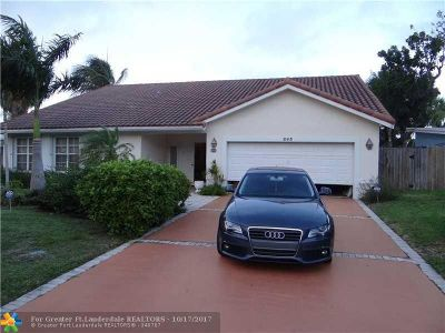 Lauderdale By The Sea Single Family Home For Sale: 263 Hibiscus Ave