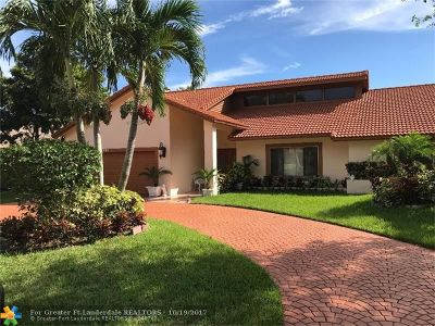 Coral Springs Single Family Home For Sale: 11380 SW 1st St