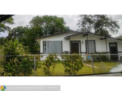 Fort Lauderdale Single Family Home For Sale: 2816 NW 7