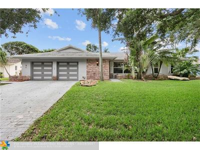 Plantation Single Family Home For Sale: 7210 NW 7th Ct