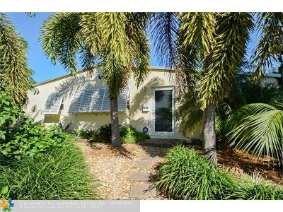 Fort Lauderdale Single Family Home For Sale: 1636 N Victoria Park Rd