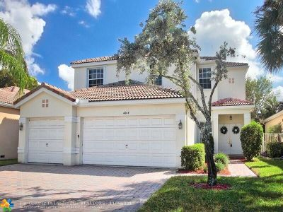Coconut Creek Single Family Home For Sale: 4014 NW 62nd Dr