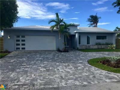 Fort Lauderdale Single Family Home For Sale: 2259 NE 20th St