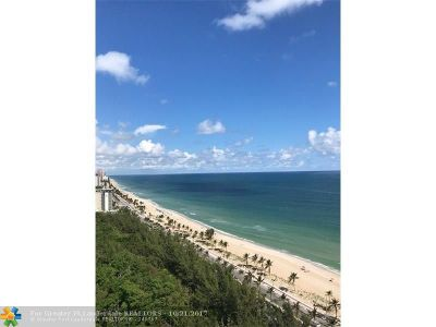 Fort Lauderdale Condo/Townhouse For Sale: 701 N Fort Lauderdale Beach Blvd #PHA2