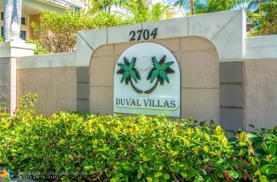 Wilton Manors Condo/Townhouse For Sale: 902 Duval Ct #402