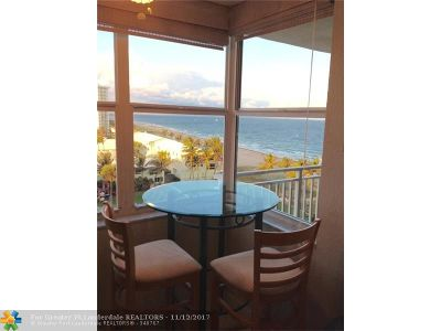 Lauderdale By The Sea Condo/Townhouse For Sale: 5200 N Ocean Blvd #804