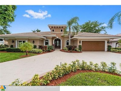 Coral Springs Single Family Home For Sale: 12150 NW 10th St