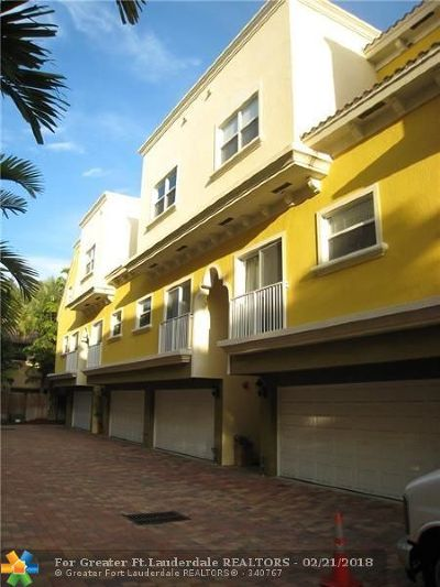 Fort Lauderdale Condo/Townhouse For Sale: 738 SE 12th Ct #738