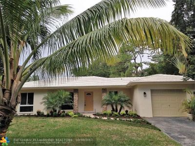 Wilton Manors Single Family Home Backup Contract-Call LA: 1408 NE 27th Dr