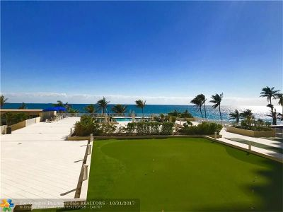 Fort Lauderdale Condo/Townhouse For Sale: 4300 N Ocean Blvd #2B