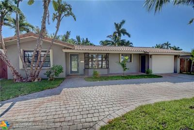 Wilton Manors Single Family Home For Sale: 2016 NE 22nd St