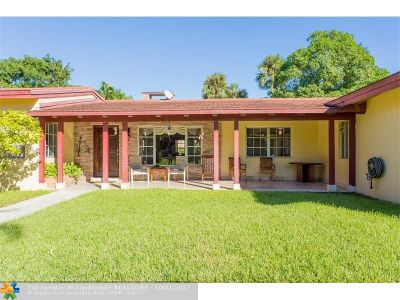 Oakland Park Single Family Home For Sale: 3262 NW 3rd Ave