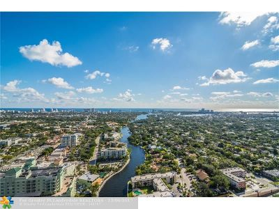 Fort Lauderdale Condo/Townhouse For Sale: 411 N New River Dr #3902