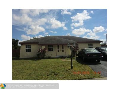 North Lauderdale Single Family Home For Sale: 1429 SW 74th Ave